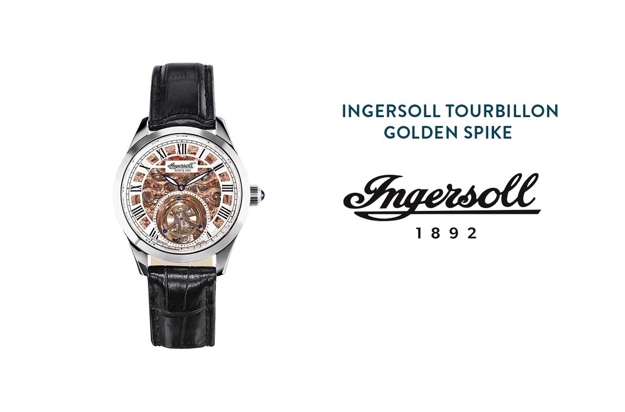 Hodinky Ingersoll Tourbillon Golden Spike
