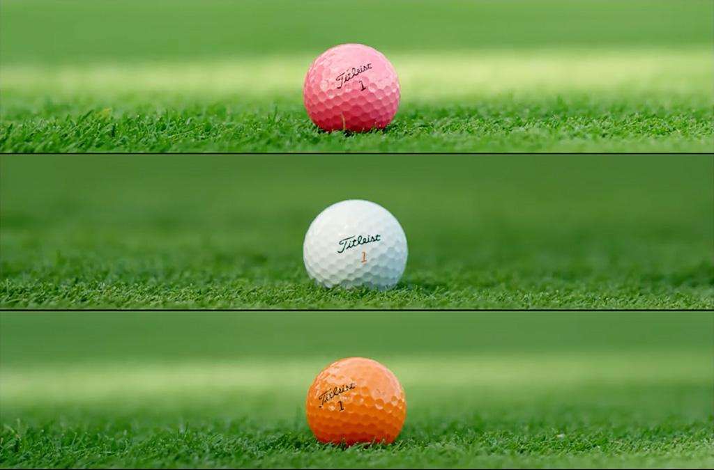 Barevné míčky na golf různé barvy